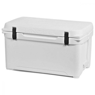 Engel High Performance 58-Quart Portable Seamless Rotomolded Airtight 70 Can Hard Cooler and Ice Box for Camping, Sports Events, and Fishing, White