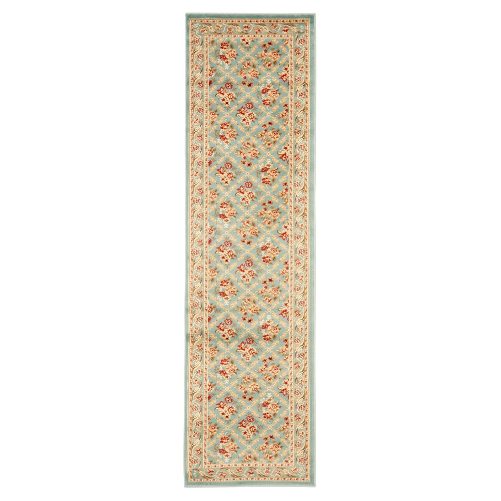 Blue Floral Loomed Runner 2'4X12' - Safavieh