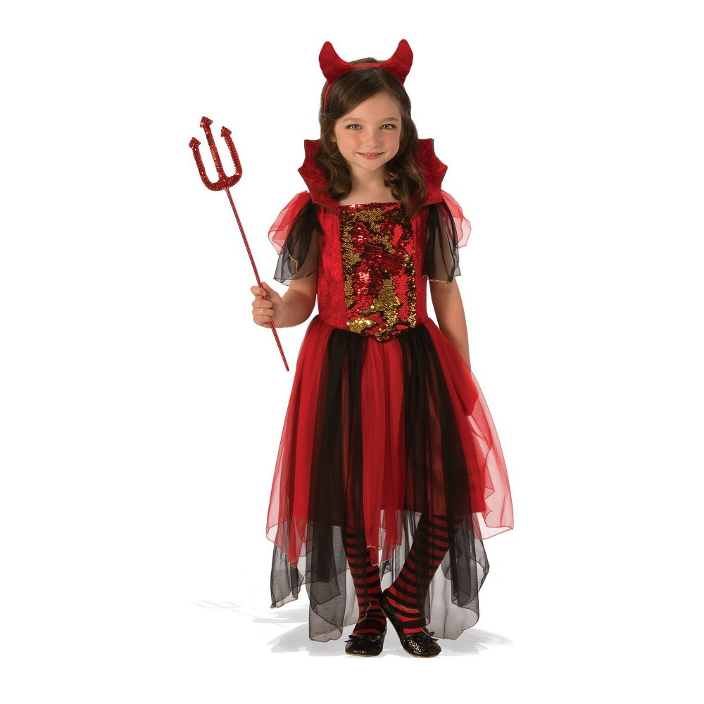 Girls' Color Magic Devil Halloween Costume S - Rubie's, Multicolored