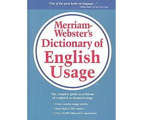 Merriam-Webster's Dictionary of English Usage (Reprint) (Hardcover) - image 1 of 1