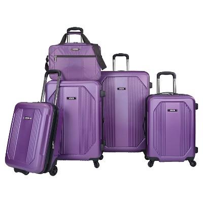 U.S. Traveler Luggage Set - Purple