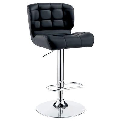 Riley Adjustable Leatherette Barstool - Furniture of America