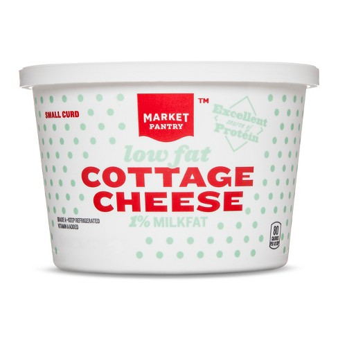 1% Milkfat Small Curd Cottage Cheese - 16oz - Market Pantry™ - image 1 of 1