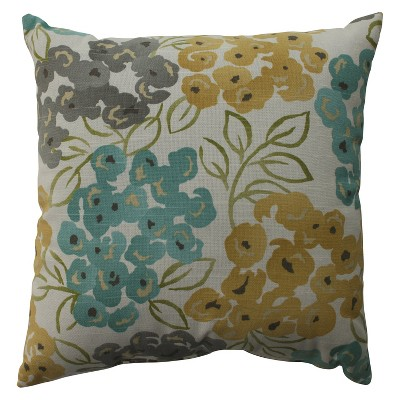Luxury Floral Pool Throw Pillow Beige - Pillow Perfect