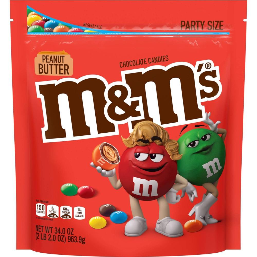 M 38 M 39 S Party Size Peanut Butter Chocolate Candies 34oz