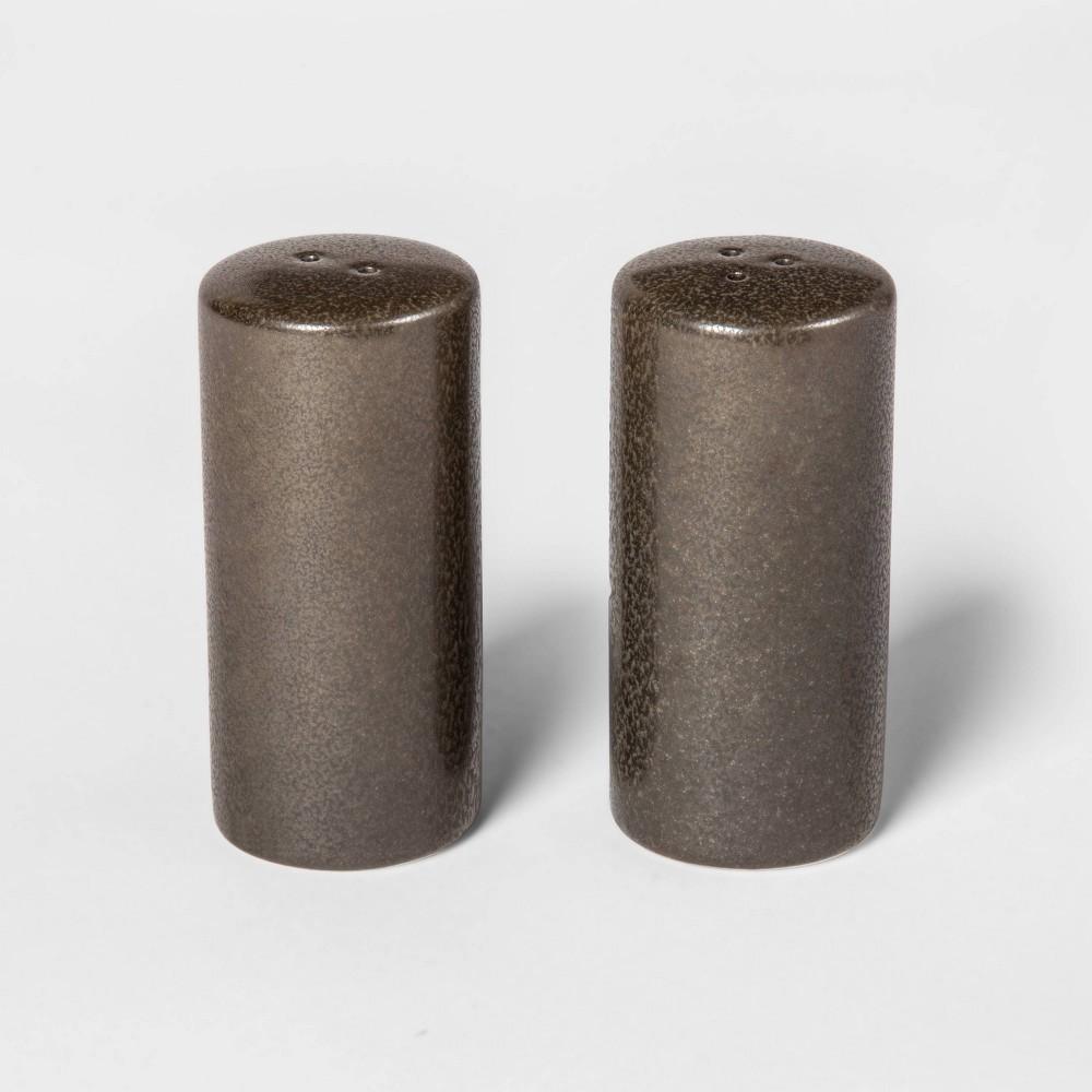 Image of 2pc Stoneware Tilley Salt and Pepper Shaker Set Black - Project 62