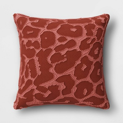 Beaded Animal Print Square Throw Pillow Cinnamon - Opalhouse™