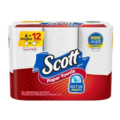Scott Choose-A-Sheet Paper Towels - 6 Double Rolls