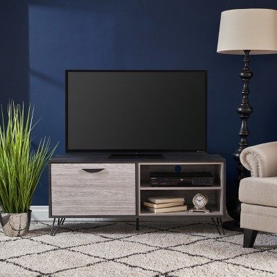 Veda Mid Century Modern TV Stand Gray - Christopher Knight Home : Target