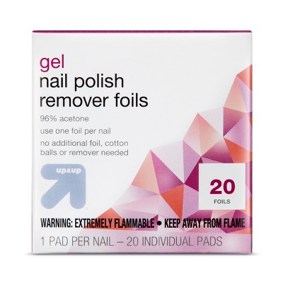 Gel Nail Polish Remover Pads - 20ct - up & up™