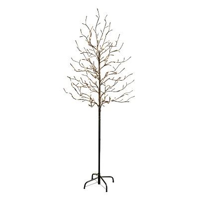 6' LED Lighted Warm White City Lights Tree