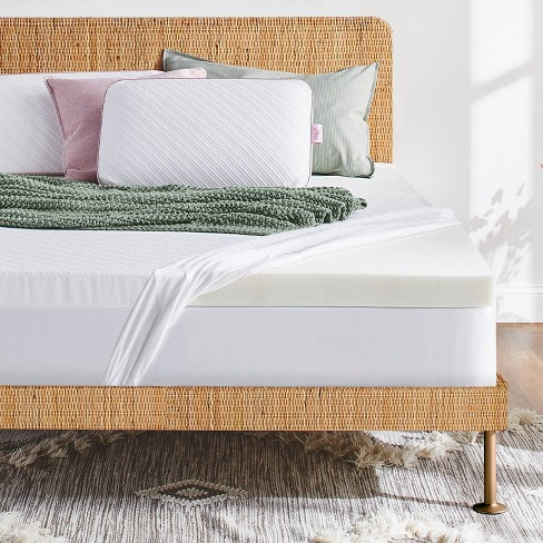 """3"""" Advanced Support Mattress Topper with Cool Touch Antimicrobial Cover - nüe by Novaform - image 1 of 4"""