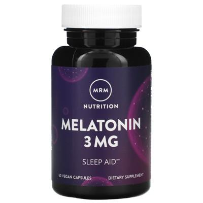 MRM Melatonin, 3 mg, 60 Vegan Capsules, Herbal Supplements