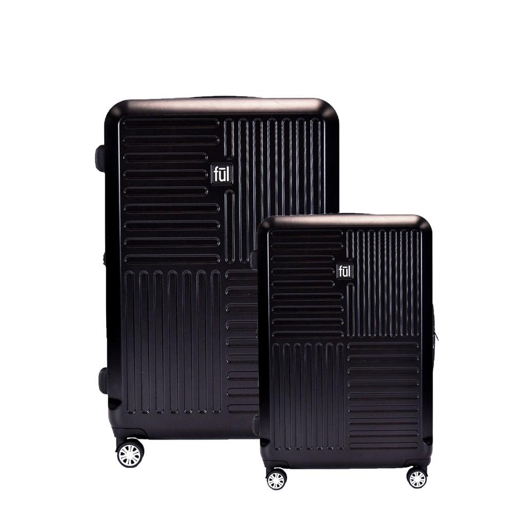 Ful Urban Grid 2pc Hardside Spinner Luggage Set - Black
