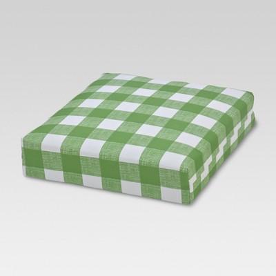 Outdoor Deep Seat Cushion - Buffalo Plaid Green - Threshold™