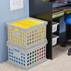 Basic Storage Crate Gray - Room Essentials™ - image 4 of 4
