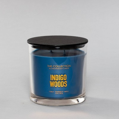 13oz Glass Jar 2-Wick Candle Indigo Woods - The Collection By Chesapeake Bay Candle
