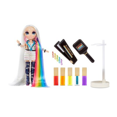 Rainbow High Hair Studio Exclusive Doll with Rainbow Hair & Extra-Long Premium Washable Hair Color