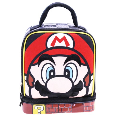 0e769089f5 Nintendo Super Mario Dual Compartment Lunch Bag With Carabiner   Target