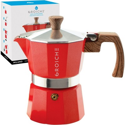 GROSCHE Milano Stovetop Espresso Maker Moka Pot Home Espresso Coffee Maker
