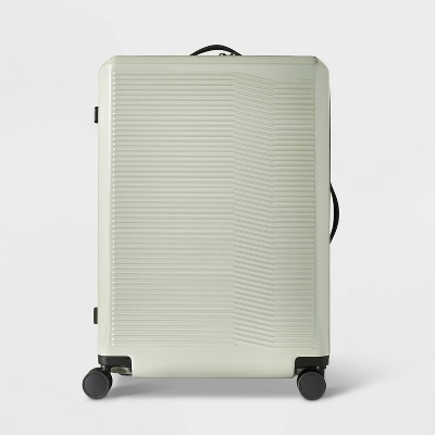 """Hardside 29"""" Checked Suitcase Sage Green - Open Story™"""