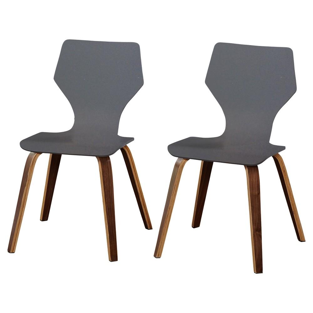 Image of Set of 2 Bari Bentwood Chair Gray - Angelo:Home