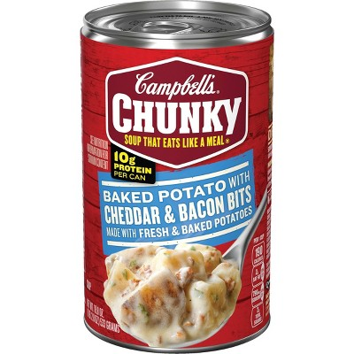 Campbell's Chunky Baked Potato Soup with Cheddar & Bacon Bits - 18.8oz