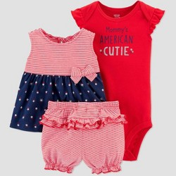 Baby Girls' American Cutie Top & Bottom Set - Just One You® made by carter's Red/Blue