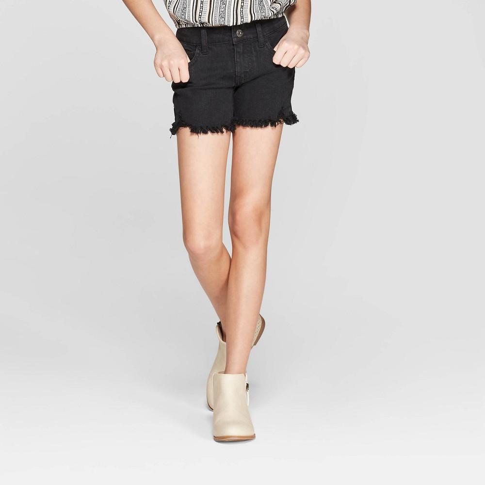Girls' Denim Shorts - art class Black L