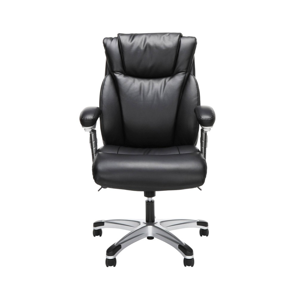 Ergonomic Executive Bonded Leather Office Chair Black - Ofm