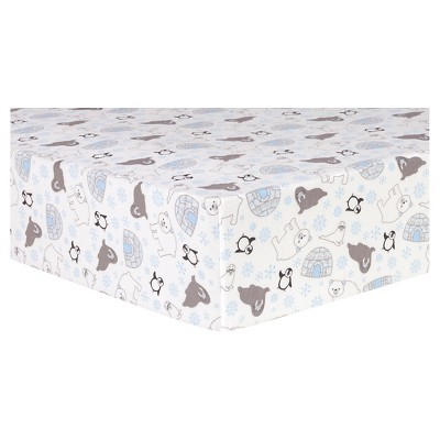 Trend Lab Deluxe Flannel Fitted Crib Sheet - Igloo Friends