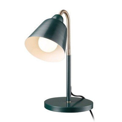 "16"" Gooseneck Forest Table Lamp with Inner Shade - Globe Electric"