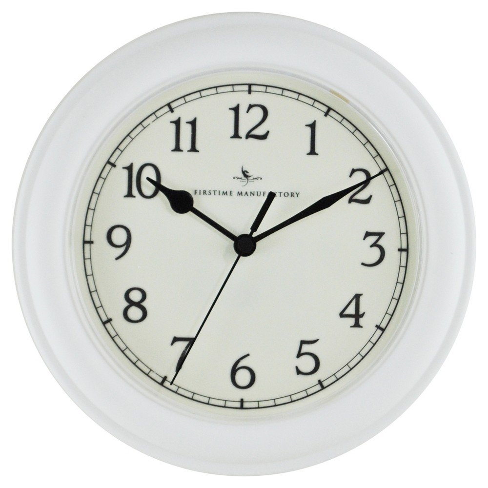 Essential 8.5 Round Wall Clock White - FirsTime