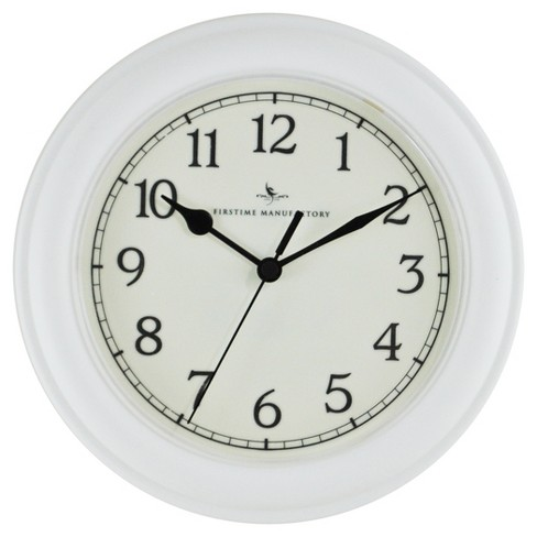 "Essential 8.5"" Round Wall Clock White - FirsTime® - image 1 of 2"
