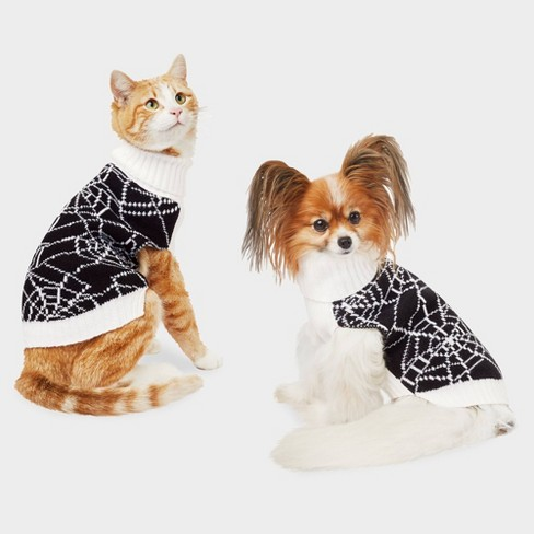 Spiderweb Halloween Dog and Cat Sweater - Hyde & EEK! Boutique™ - image 1 of 3