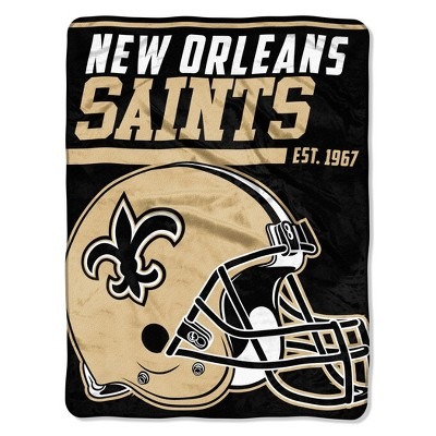 NFL New Orleans Saints Micro Fleece Throw Blanket