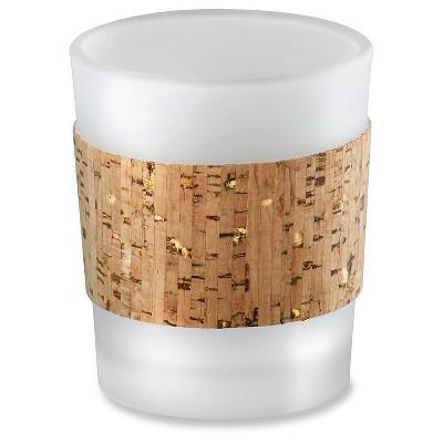 12ct Tropical Chic Cork Wrapped Tea Light Holder Set Gold Glitz