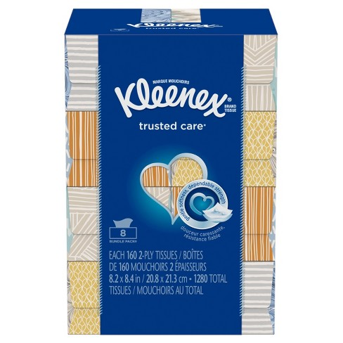 Kleenex Trusted Care Facial Tissue - 8pk - image 1 of 8