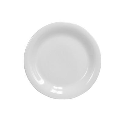 """Home Basics 10.5"""" Ceramic Dinner Plate, White"""