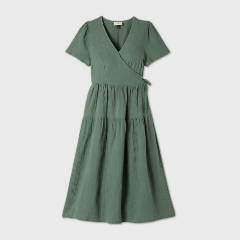 Women's Short Sleeve Wrap Dress - Universal Thread™ - image 1 of 4
