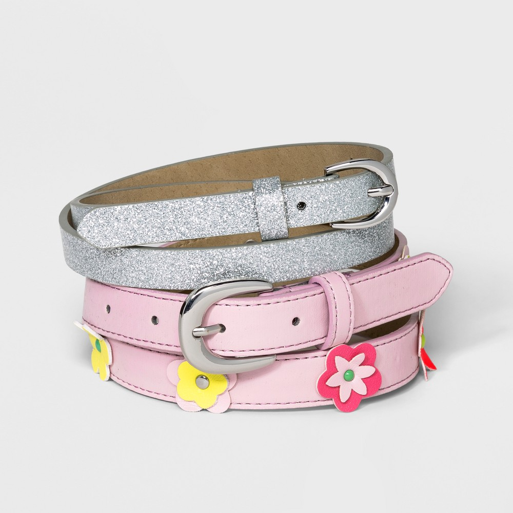 Girls' Belt - Cat & Jack M, Multicolored