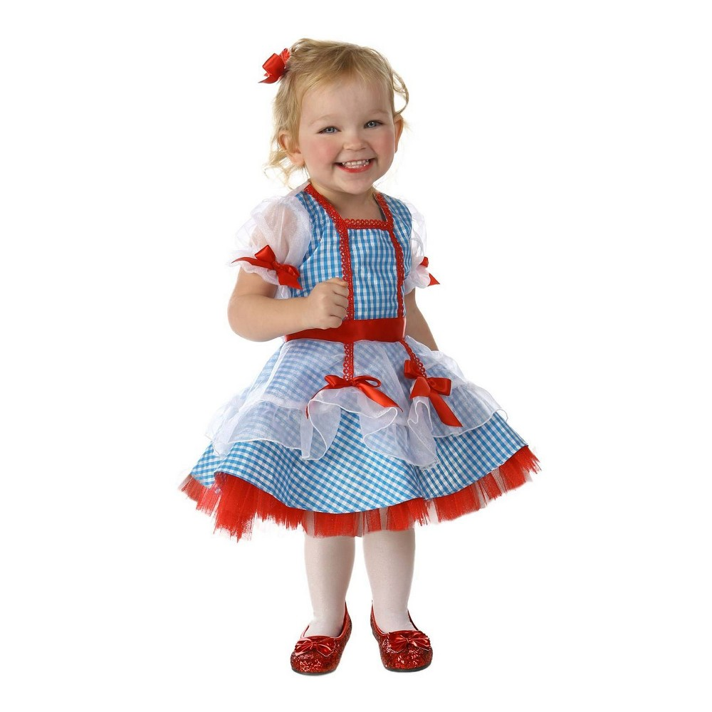 Image of Halloween Girls' Wizard of Oz Glitter Dorothy Costume XL, Girl's, MultiColored
