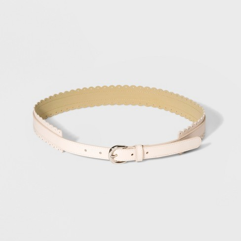 Women's Scalloped Belt - A New Day™ Blush - image 1 of 2