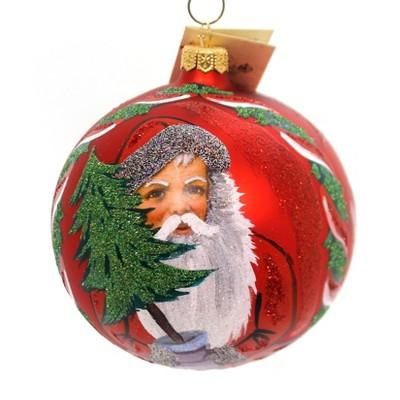 Christina's World Red Candlelight Santa Christmas Tree Poland  -  Tree Ornaments