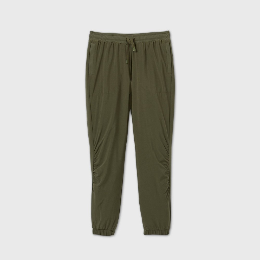 Girls 39 Lined Winter Woven Jogger Pants All In Motion 8482 Olive Green Xxl