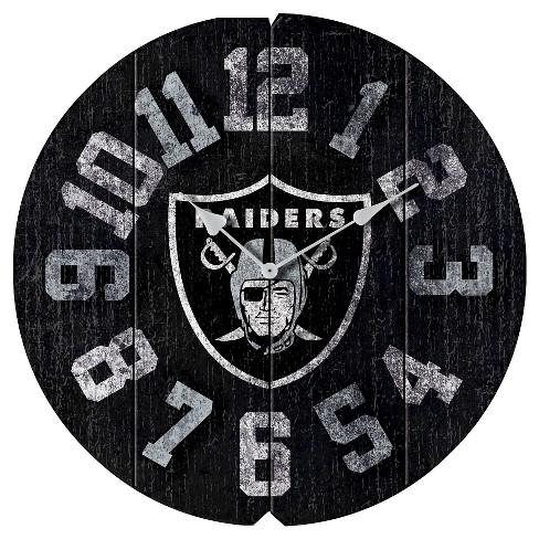 5f7720e201e Oakland Raiders Imperial Vintage Round Clock   Target