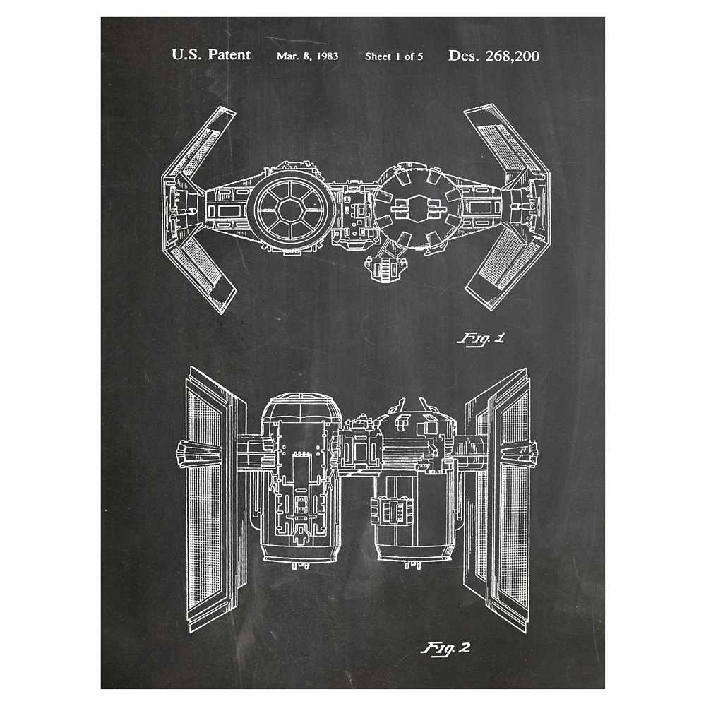 Empire Bomber by House of Borders Unframed Wall Art Print, White/Black