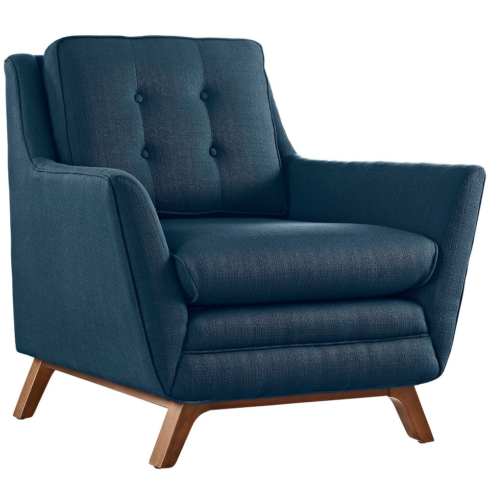 Beguile Upholstered Fabric Armchair Azure (Blue) - Modway