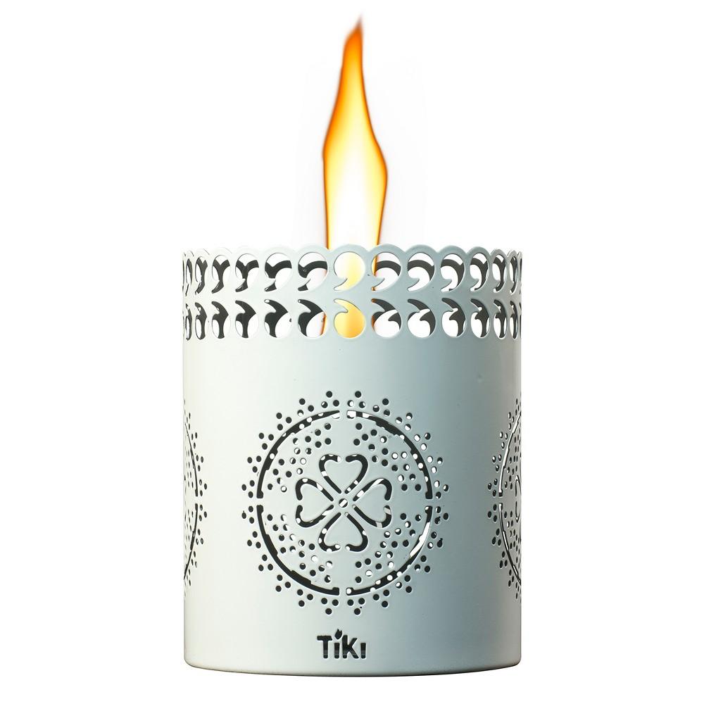 """Image of """"6"""""""" Clean Burn Flameshield Tabletop Torch Lantern White - TIKI"""""""