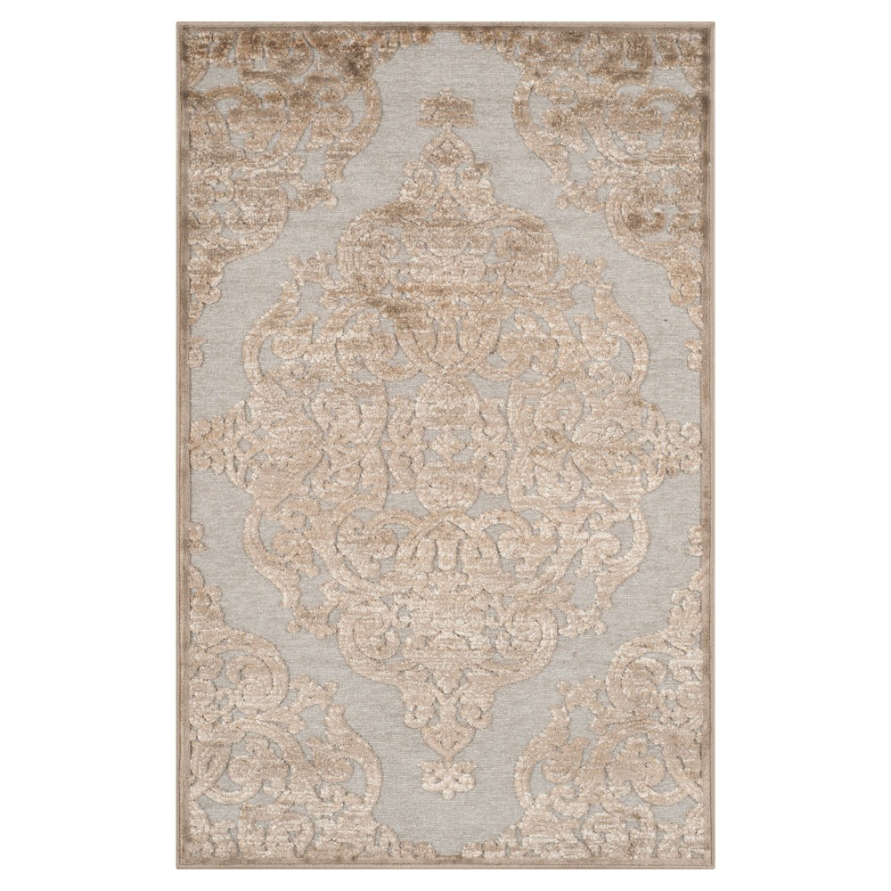 Margeaux Viscose Area Rug - Mouse (2'7X5') - Safavieh, Brown